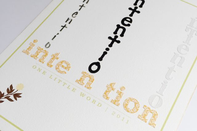 Intention - One Little Word 2011