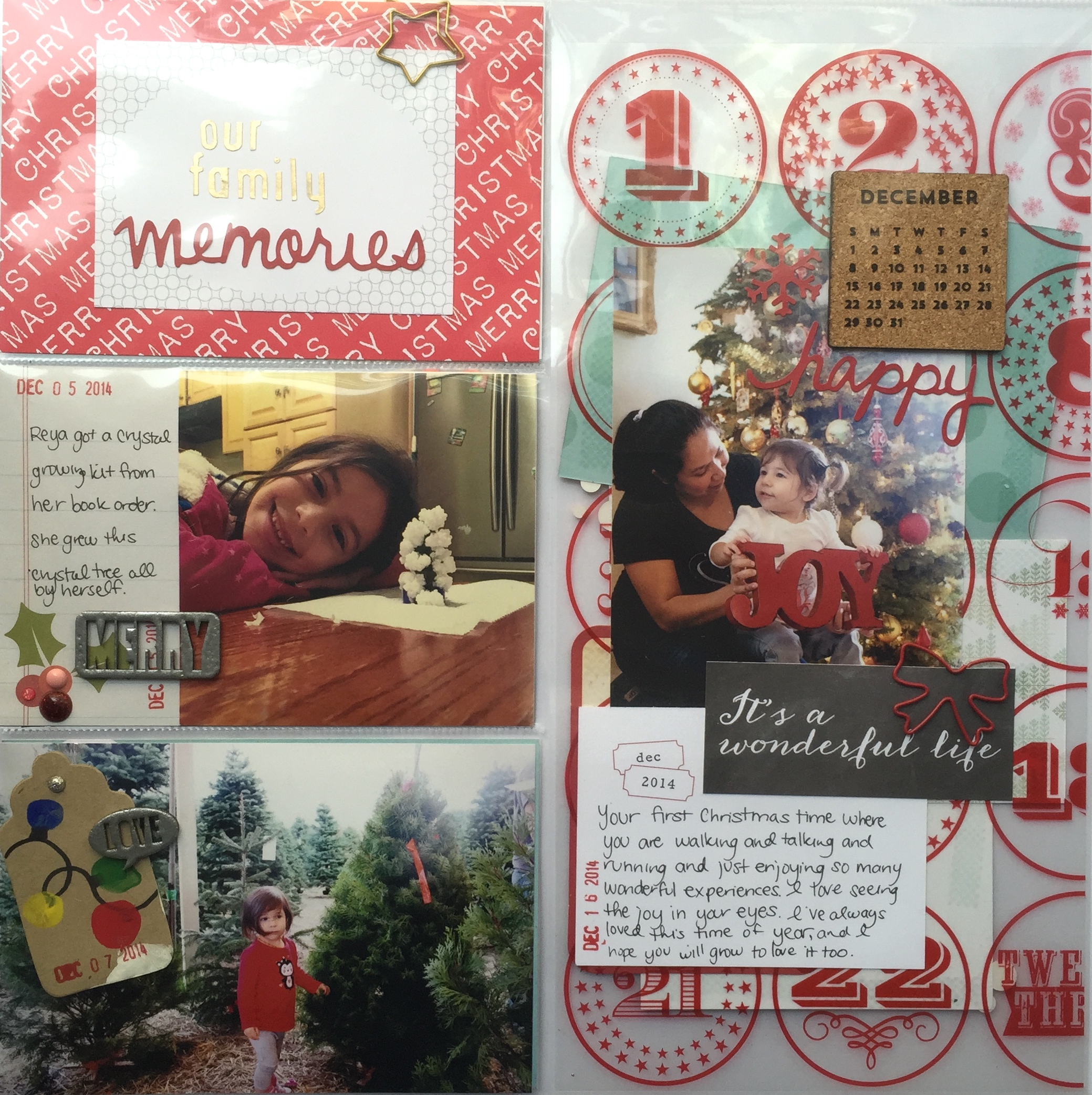 How to scrapbook a holiday - Holiday Memories Our Family