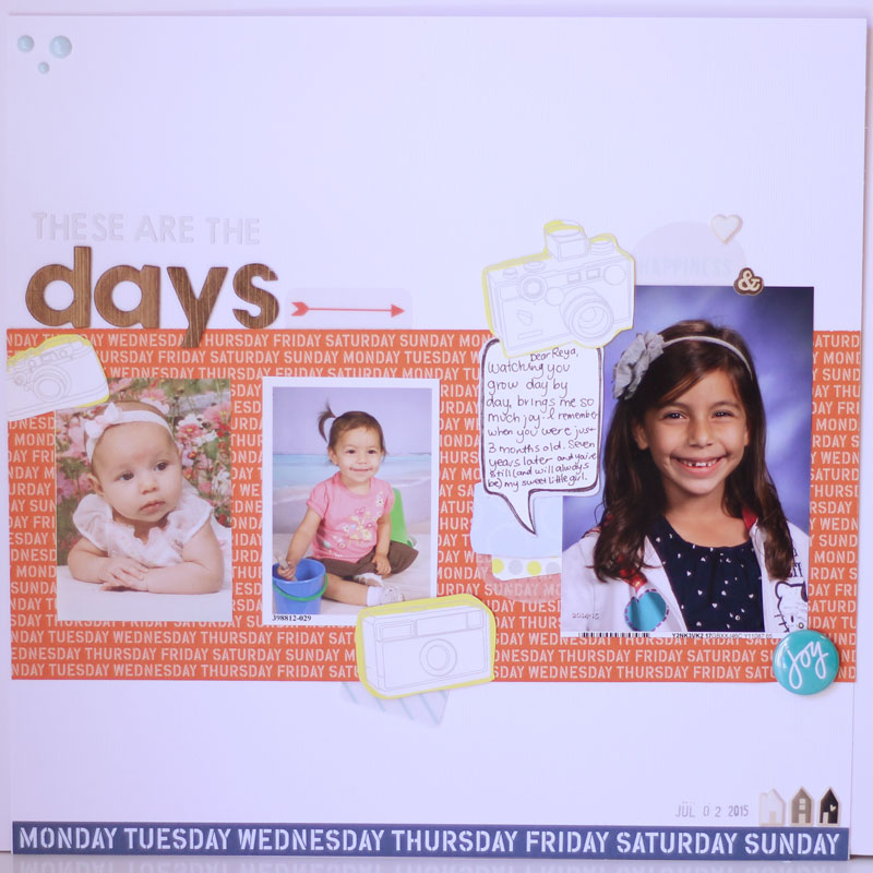 Scrapbooking Layout Start to Finish and a Video!